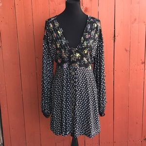 NWT Free People Floral Boho Festival Dress